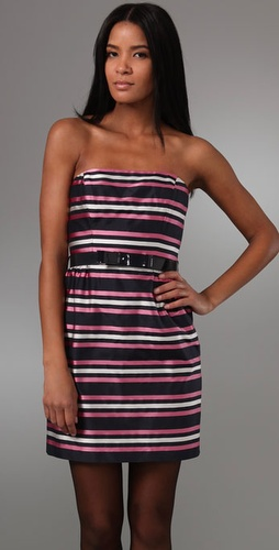 Milly Belted Strapless Dress