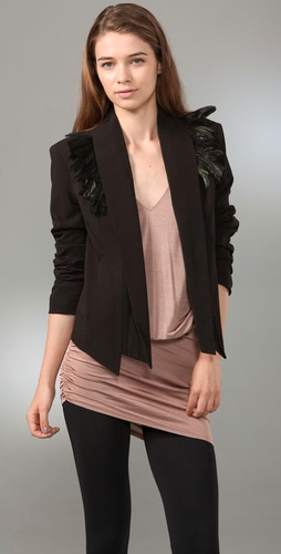 Madison Marcus Plume Blazer with Oversized Lapels