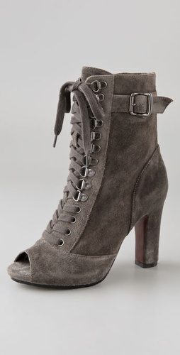 Sam Edelman Belmont Lace Up Suede Booties