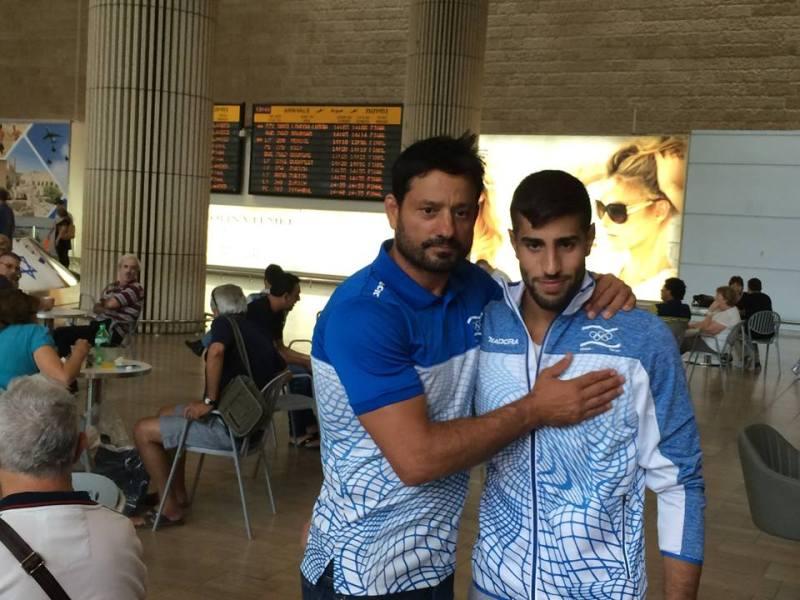 פולק עם מאמנו אורן סמד'גה - רוצה מדליה אולימפית: צילום- הועד האולימפי.