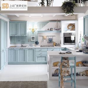 upper kitchen cabinets teak 上邸家居欧式水曲柳实木整体橱柜定做开放式厨房厨柜定制 阿里巴巴找货神器 上厨柜