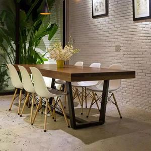 retro kitchen tables coffee rugs for 家具复古桌子木质会议厨房家用时尚桌子长方形结实办公大板桌迷你 阿里 阿里巴巴找货神器
