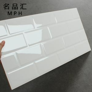 subway tiles in kitchen aid dishwashers 现代简约白色地铁砖北欧厨房墙砖面包砖卫生间工字瓷砖300 600 阿里巴巴找 淘宝
