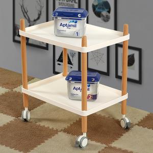 kitchen cart table building cabinets 巨阳北欧小推车实木移动餐车客厅家用多功能边角桌几厨房微波炉架 阿里 天猫
