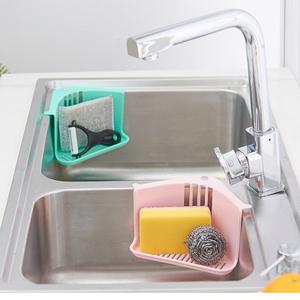 delta kitchen sinks cabinets paint colors 三角形厨房置物架水槽沥水架免打孔塑料收纳架沥水海绵钢丝球挂篮 阿里 三角形厨房置物架水槽沥水架免打孔塑料收纳架沥水海绵钢丝