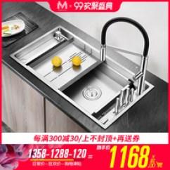 Kraus Kitchen Sinks Granite Tops 华人代购网站yoycart的厨盆 水槽 曼巴顿厨房304不锈钢手工水槽单槽大小洗菜盆台下加