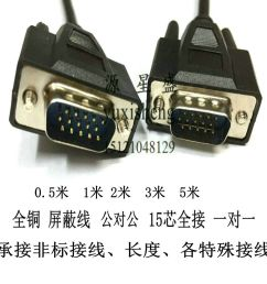 db15 pin serial cable three row db15 core cable male to male needle hd15 cable 3 [ 1000 x 1000 Pixel ]