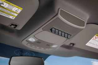 All-new 2017 Ford F-Series Super Duty now offers six configurable auxiliary switches positioned on the overhead console to operate a variety of aftermarket options – from lights to air compressors.