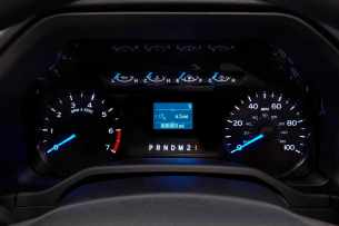 All-new 2017 Ford F-450 Super Duty Platinum Crew Cab 4x4 Class 3 dual-rear-wheel pickup features many driver-assist features that help the customer get any job done. These features are conveniently located on the eight-inch productivity screen in the gauge cluster.
