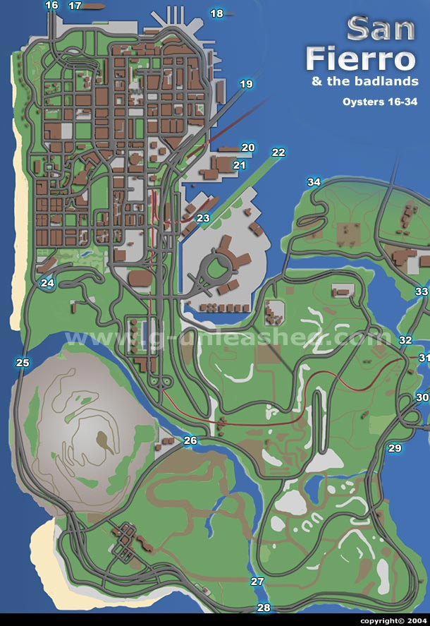 Gta San Andreas Tags Map : andreas, Fierro, Oysters, Guide, Andreas