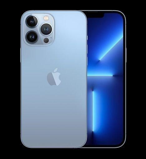 iPhone 13 Pro har fortsatt 3 kameraer, og kommer i fargene sierrablå, sølv, gull og grafitt.