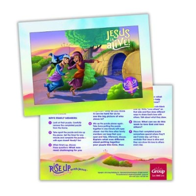 Easter Jesus lives puzzles
