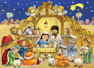 Advent calendar Creche for kids