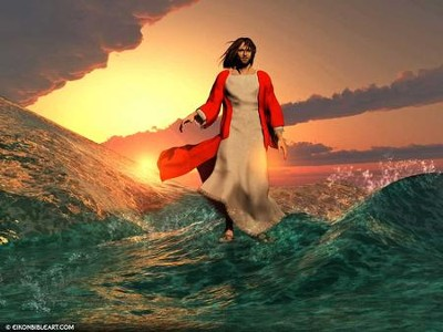 Bible story download Jesus walks on water