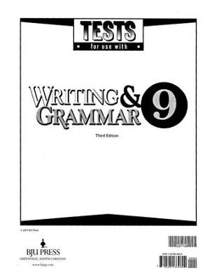 BJU Press English Grade 9 Tests, Third Edition