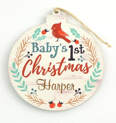 First Christmas Ornament Baby