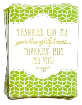 thanking him for you