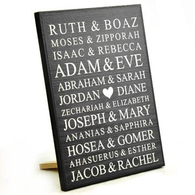personalized lithograph plaque bible