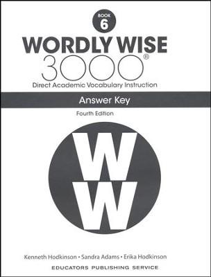 Wordly Wise 3000 Book 6 Key (4th Edition; Homeschool