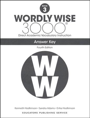 Wordly Wise 3000 Book 3 Key 4th Edition: 9780838877289