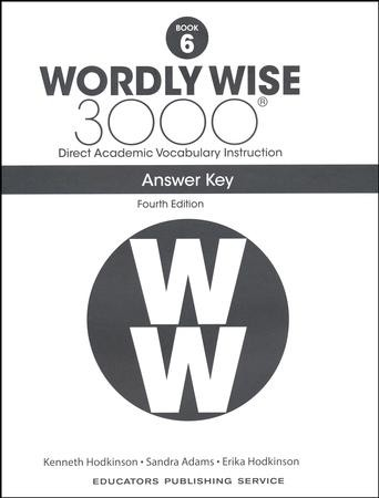 Wordly Wise 3000 Book 6 Key (4th Edition): 9780838877319