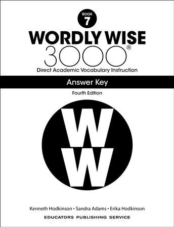 Wordly Wise 3000 Book 7 Key (4th Edition): 9780838877326