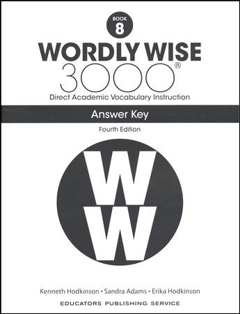 Wordly Wise 3000 Book 8 Key (4th Edition): 9780838877333
