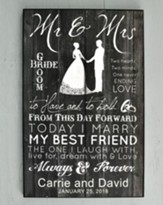 christian personalized wedding gifts