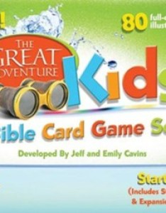 The great adventure kids bible card game set starter by jeff cavins also rh christianbook