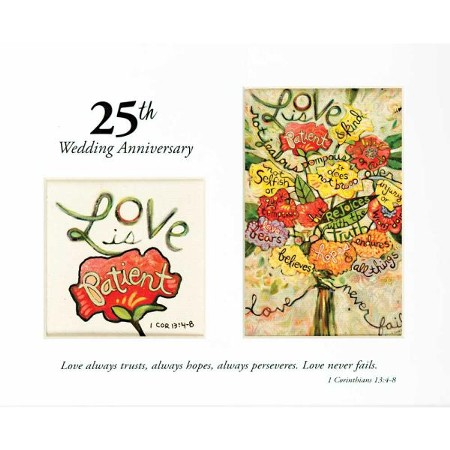 25th Wedding Anniversary Love Is Patient Photo Mat Christianbook Com