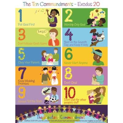 The 10 Commandments poster kids