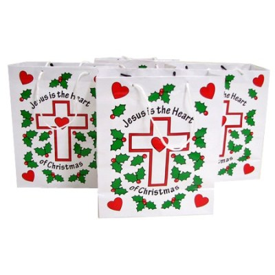 Jesus is the heart of Christmas gift bags