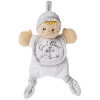 Plush God bless baby lovey doll