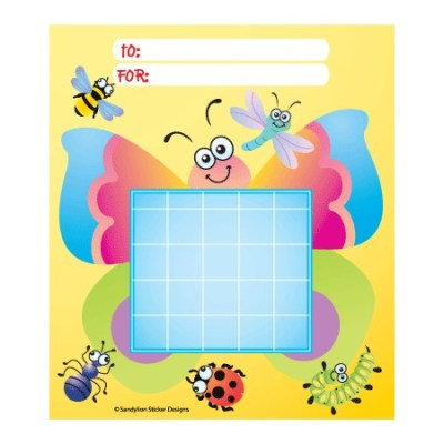 Butterfly and Bugs Sunday school certificate charts