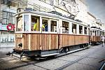 The historical tram number 107, which passes through the Brno line H4, is being repaired.