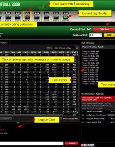 Auction draft screenshot also rules overview espn rh gamespn
