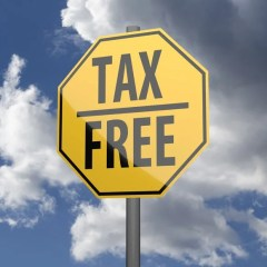 """highway sign that says """"tax free"""""""