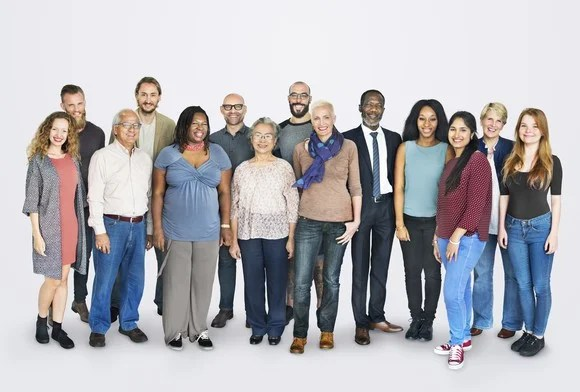 Diverse group of people of various ages and ethnicities.