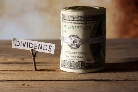 dividends tab on twig next to roll of money