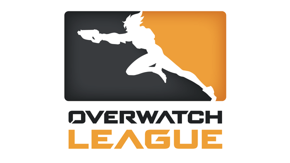 Overwatch League icon featuring outlined character running and shooting.