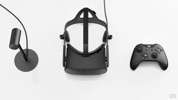 Components of an Oculus VR system.