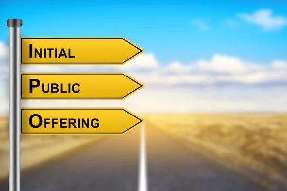 Sign reading Initial Public Offering