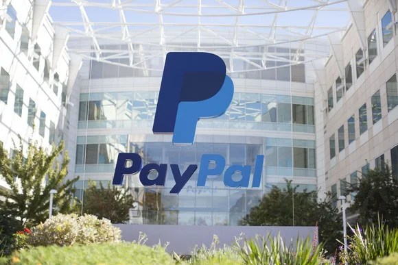 Front of PayPal corporate headquarters.