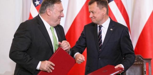 Mariusz Błaszczak i Mike Pompeo