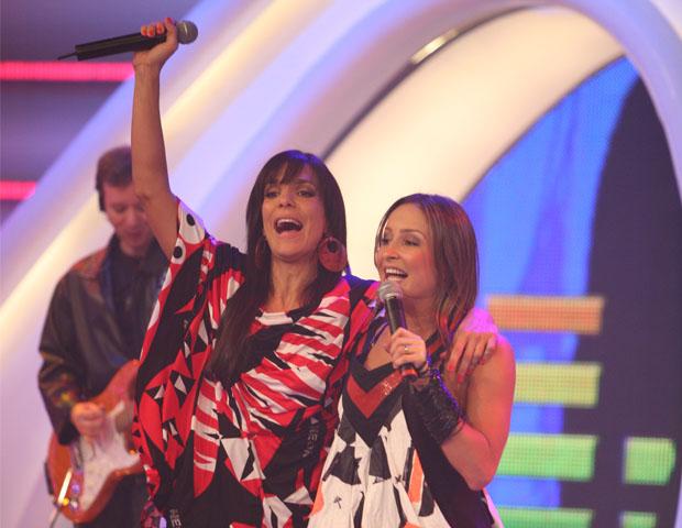 Ivete Sangalo e Cláudia Leite (Foto: CEDOC/TV Globo)