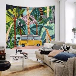 小預算佈置術熱帶植物北歐裝飾牆壁掛布壁畫直播背景微裝潢 - 露天拍賣