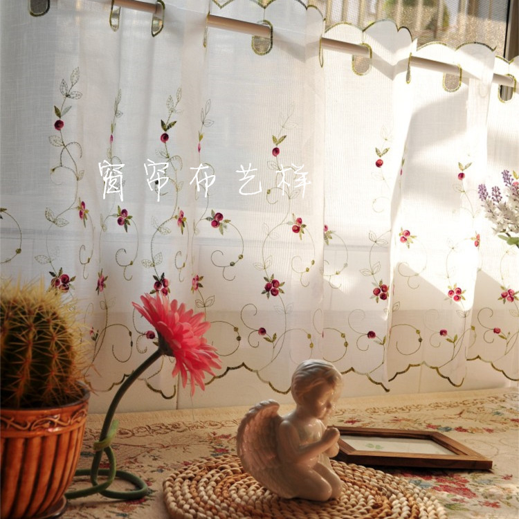 french lace kitchen curtains backsplash stick on tiles 蕾丝纱帘隔断颜色 蕾丝纱帘隔断摆设 蕾丝纱帘隔断设计 印刷 淘宝海外 法式蕾丝厨房窗帘
