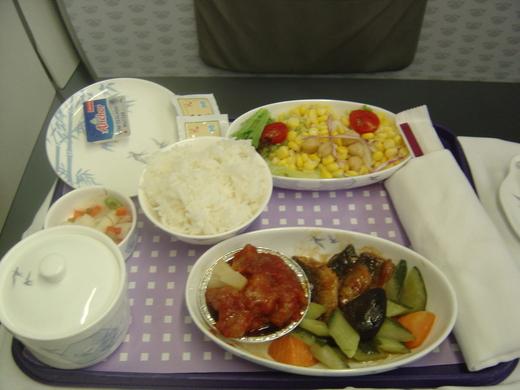 飛機上吃什麼--2008年09月 中國東方航空香港到南京商務艙 - 首航風~飛行。我的家 - udn部落格