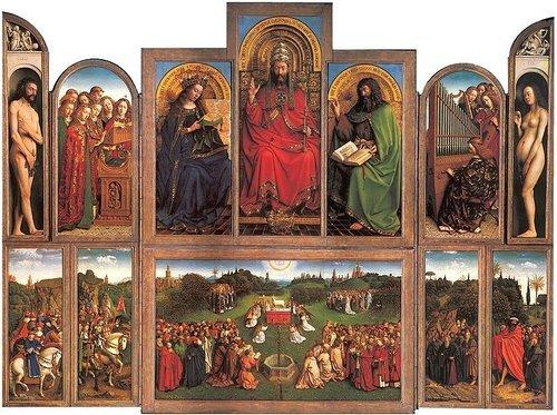 北方文藝復興繪畫的創使者與代表者〔范艾克兄弟〕──法蘭德斯文藝復興最輝煌的成果──〔根特祭壇畫 ...
