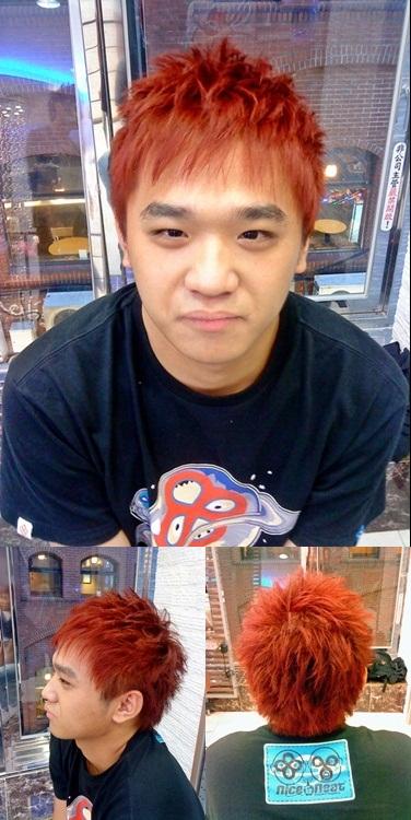 ★ 日系 造型剪髮 橘紅髮色 ★ - 十字編髮 / 西門町 髮型設計師 Mico - udn部落格